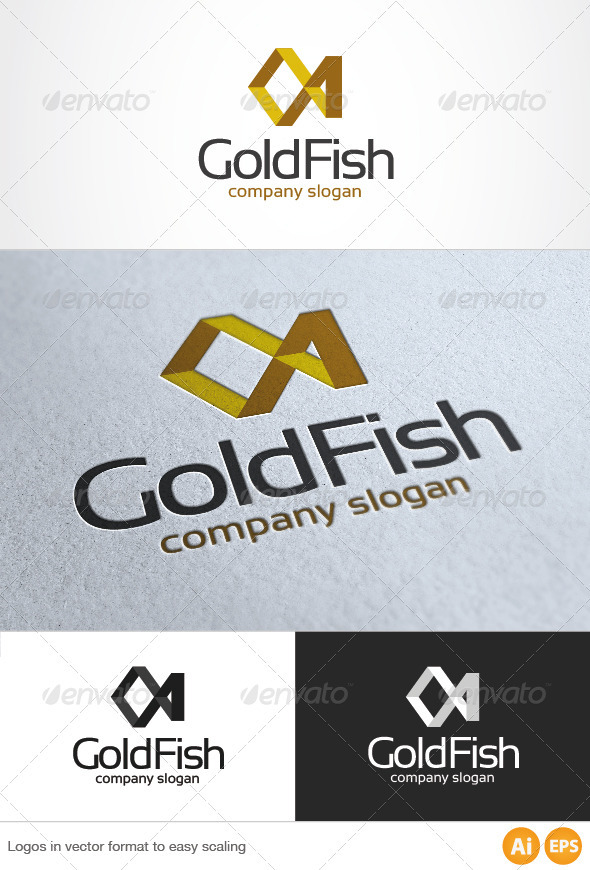 Gold Fish Logo - Animals Logo Templates