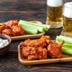 Buffalo wings with mugs of beer - PhotoDune Item for Sale