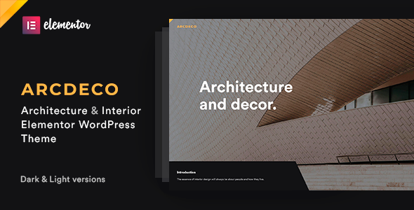 Download Arcdeco – Architecture Interior Design Theme Free Nulled