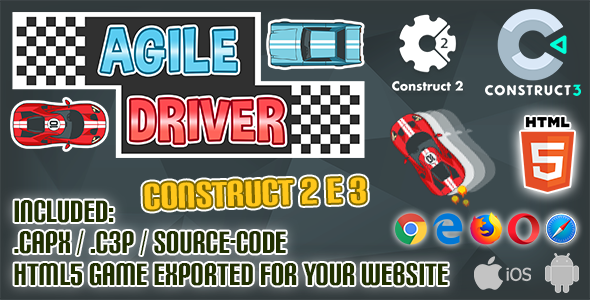 Agile Driver HTML5 - Construct 2 & 3 (.capx + .c3p + source-code)