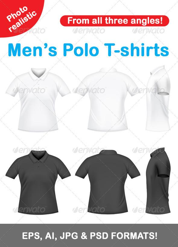 Men's polo t-shirts - Miscellaneous Vectors