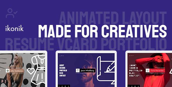 Special ikonik - Resume/CV Animated Template