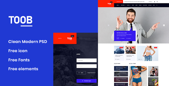 Toob - Personal PSD Template