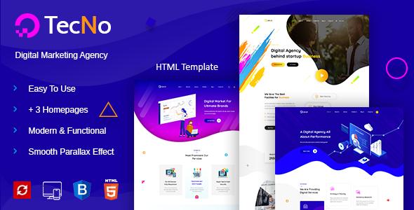 Tecno - Creative Digital Agency by expert-Themes