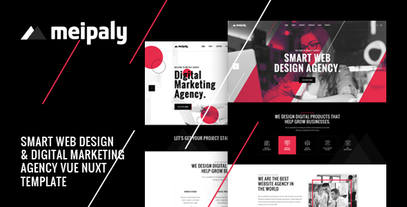 Meipaly - Vue Nuxt Digital Services Agency Template