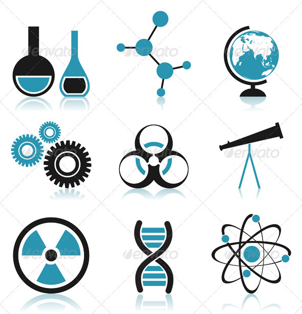 Science icon3 - Characters Vectors