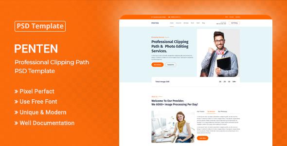 Penten - Professional Clipping Path PSD Template