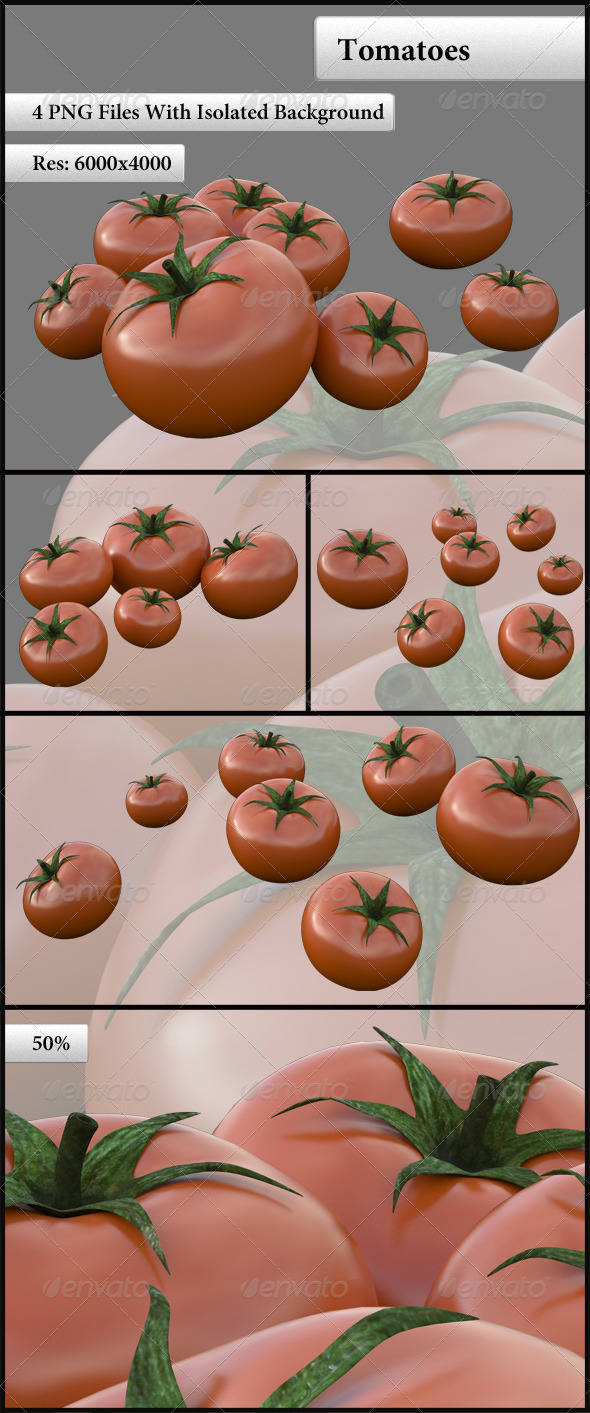 Tomatoes - Objects 3D Renders