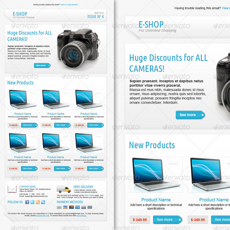 E-shop Newsletter Template by grati | GraphicRiver