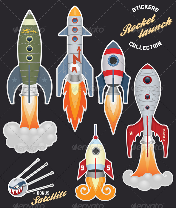 Rocket launch (stickers collection) - Man-made Objects Objects