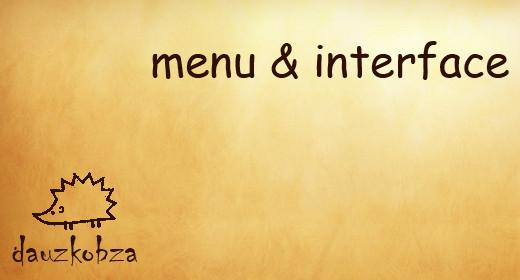 menu & interface sounds