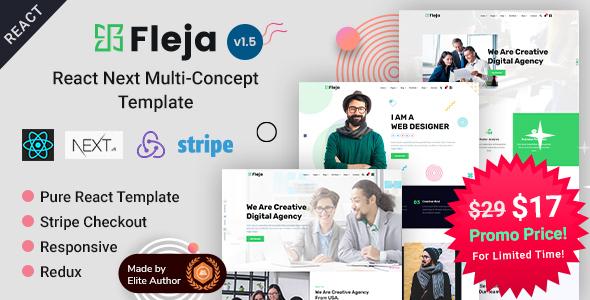 Fleja   React Next Multi-Concept Template by EnvyTheme