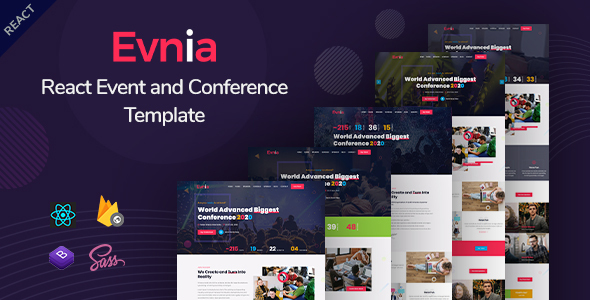 Evnia - React Event Conference & Meetup Template