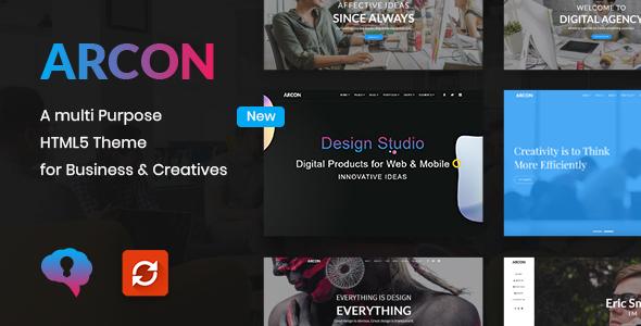 Arcon - Creative Multi-Purpose HTML Template by DesignsNinja