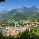 View of the ancient village Castellane (Provence) from the chapel Notre Dame du Roc. - PhotoDune Item for Sale