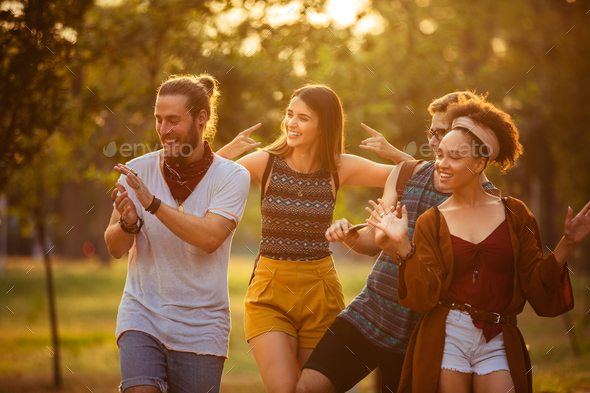 Celebrating their youth - Stock Photo - Images