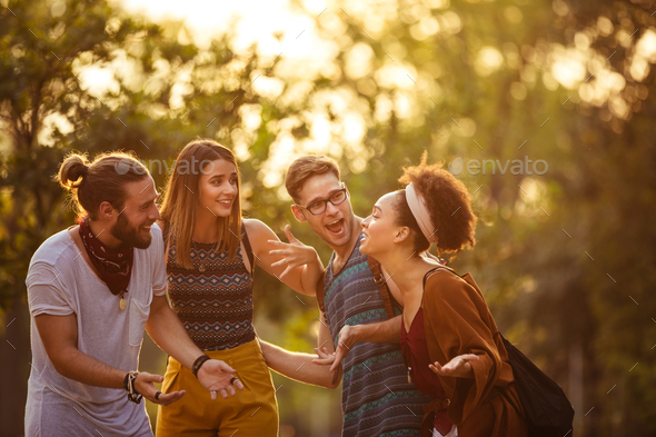 Partying before festival - Stock Photo - Images