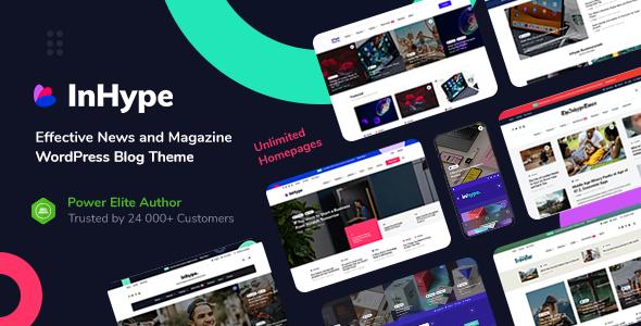 InHype - Blog & Magazine WordPress Theme Premium WordPress Themes For Blogging