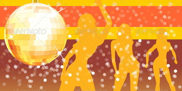 Disco Ball with Pary Background - Backgrounds Decorative