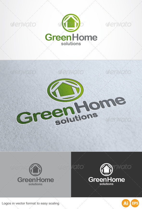 Green Home Logo - Buildings Logo Templates