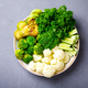 Raw mixed Vegetables and chickpeas.Vegetarian Buddha Bowl. - PhotoDune Item for Sale