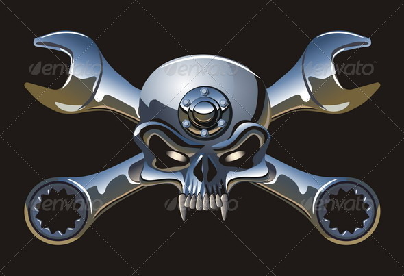 Metal Jolly Roger - Decorative Symbols Decorative