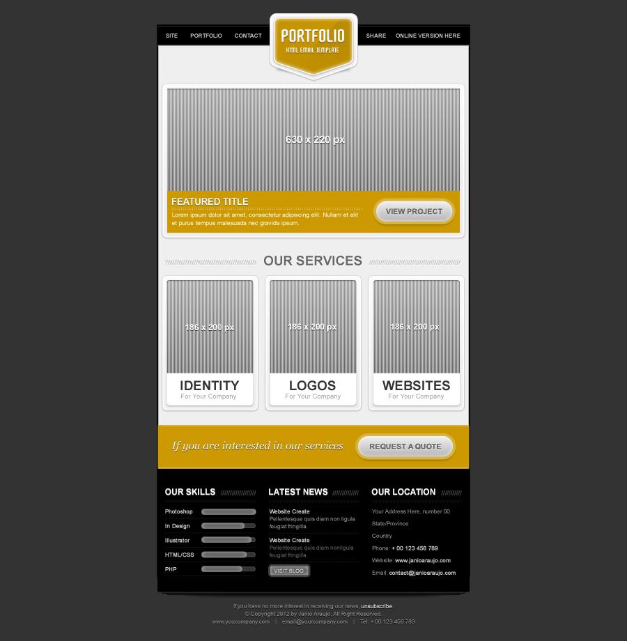 Portfolio Email Template by janio_araujo | ThemeForest