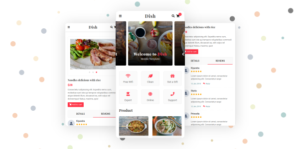 Dish - Cafe, Food and Restaurant Mobile Template by aStylers