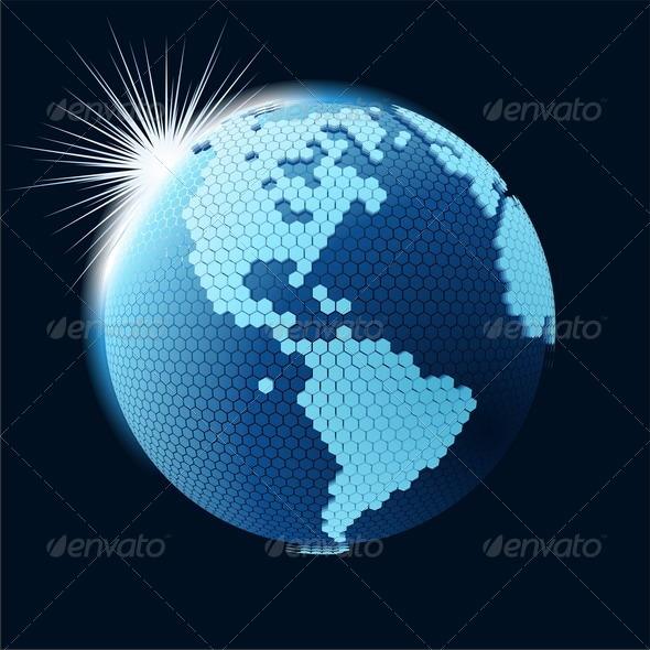 Global Cellular Network Theme - Communications Technology