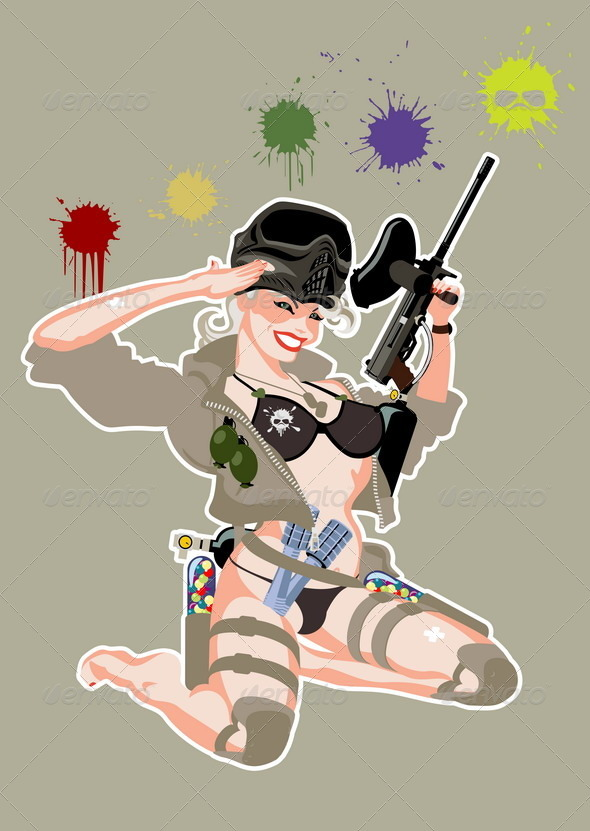 Paintball Pinup - Sports/Activity Conceptual