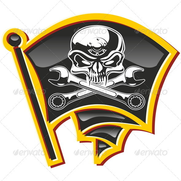 Jolly Roger Badge - Decorative Symbols Decorative