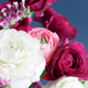 Pink, white and fuchsia flowers on a grey background - PhotoDune Item for Sale