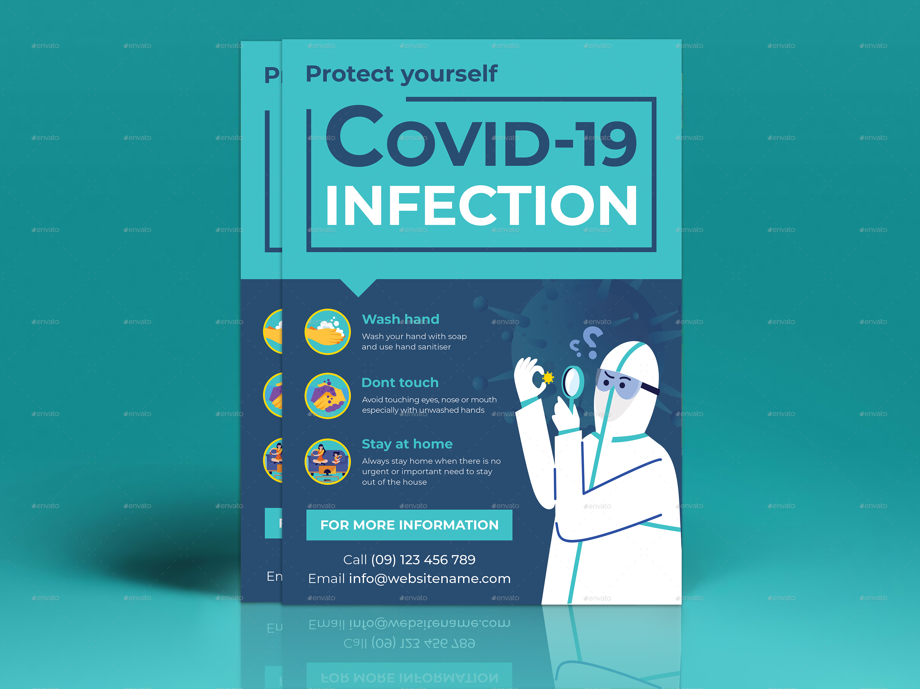 Virus Campaign Flyer Templates