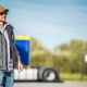 Semi Driver on Truck Stop - PhotoDune Item for Sale