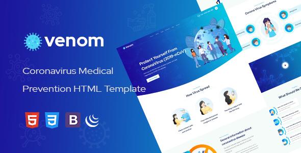 Venom -  Coronavirus Medical Prevention HTML Template