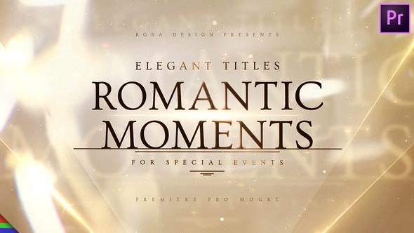 Romantic Titles – Premiere Pro | Mogrt