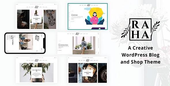 Download Raha – Creative WordPress Theme Free Nulled
