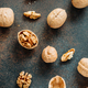 Top view on a heap of walnuts on a table. - PhotoDune Item for Sale