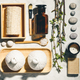 Natural skin care products flat lay. Zero waste, eco friendly bathroom and spa accessories - PhotoDune Item for Sale