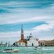 Venice, Italy. Chiesa di San Giorgio Maggiore or San Giorgio Maggiore island against blue sky and - PhotoDune Item for Sale
