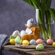 Easter background with tulips and eggs - PhotoDune Item for Sale