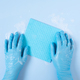 Female Hands Wearing in the Blue Rubber Gloves Cleaning Surface - PhotoDune Item for Sale