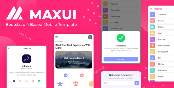 Maxui - Bootstrap Based Mobile Template