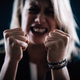Aggression – Portrait of an Angry Aggressive Woman with Clenched Fists - PhotoDune Item for Sale