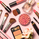 Makeup professional cosmetics on pink background - PhotoDune Item for Sale