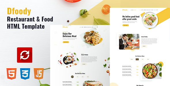 Extraordinary Dfoody - Restaurant HTML5 Template with RTL Support