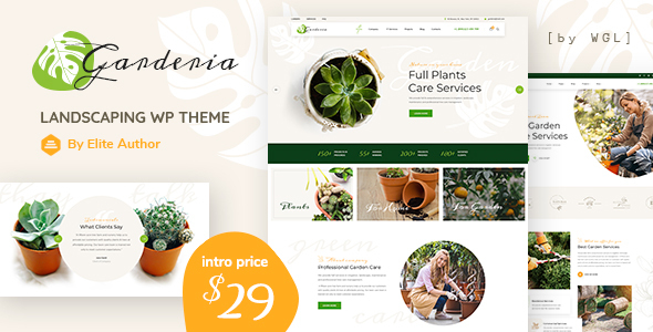 Garderia - Landscaping & Gardening  WordPress Theme