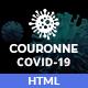 Couronne - Coronavirus (Covid-19) HTML Template