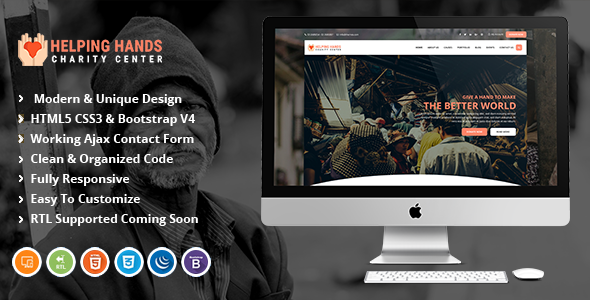 Helping Hands | Fundraising & Charity HTML Template.