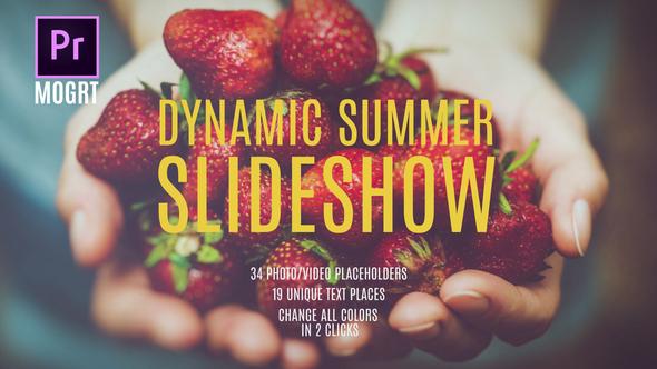 Summer Dynamic Slideshow MOGRT